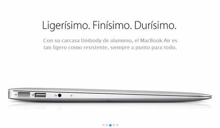 MacBook Air carcasa Unibody de aluminio