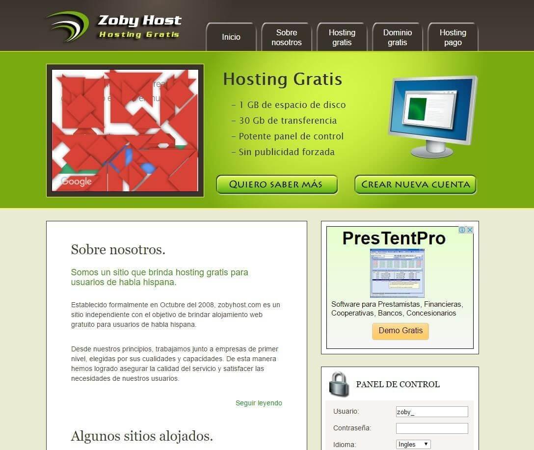 Hosting gratis Zobyhost.com