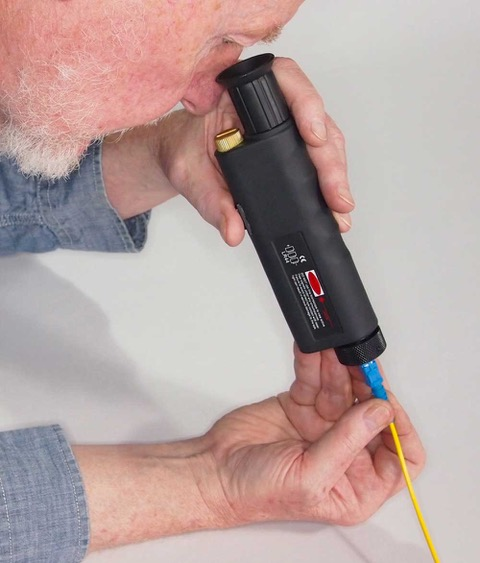 Portable optical microscope used for connector inspection