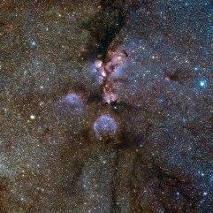 20 VISTA's infrared view of the Cat's Paw Nebula (120 x 120 cm) VERKOCHT