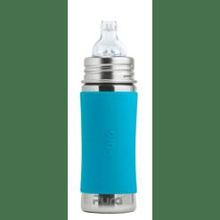 Purakiki Trinklernflasche 300ml blau Edelstahl schafstofffrei