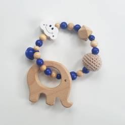 Holz Greifling Elefant marine
