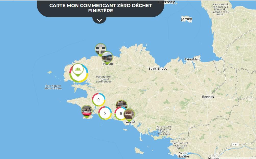 Une carte pour localiser les commerçants finistériens «Zéro Déchet»