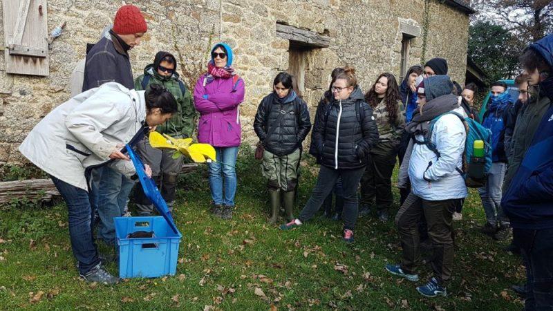 Les étudiants de BTS GPN de Suscinio à la découverte de la ferme pédagogique de Trémargat