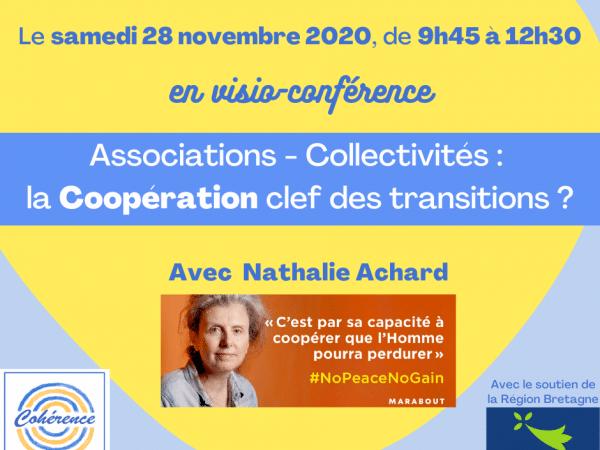 Participez à «Associations – Collectivités : la Coopération clef des transitions ?» le 28 novembre 2020 ! (en visio-conférence)