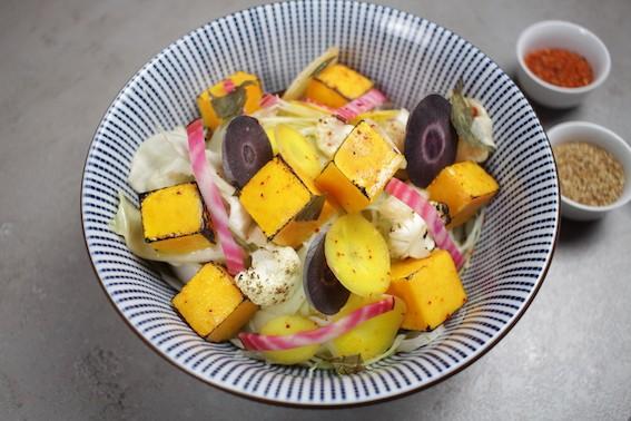 La recette.  Bio Bowl aux légumes d'hiver