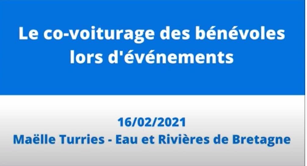 Le covoiturage des bénévoles – Maëlle Turries d'Eau et Rivières de Bretagne