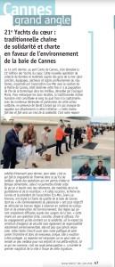 21e Yachts du Cœur: traditionnelle chaîne de solidarité et charte en faveur de l'environnement de la baie de Cannes