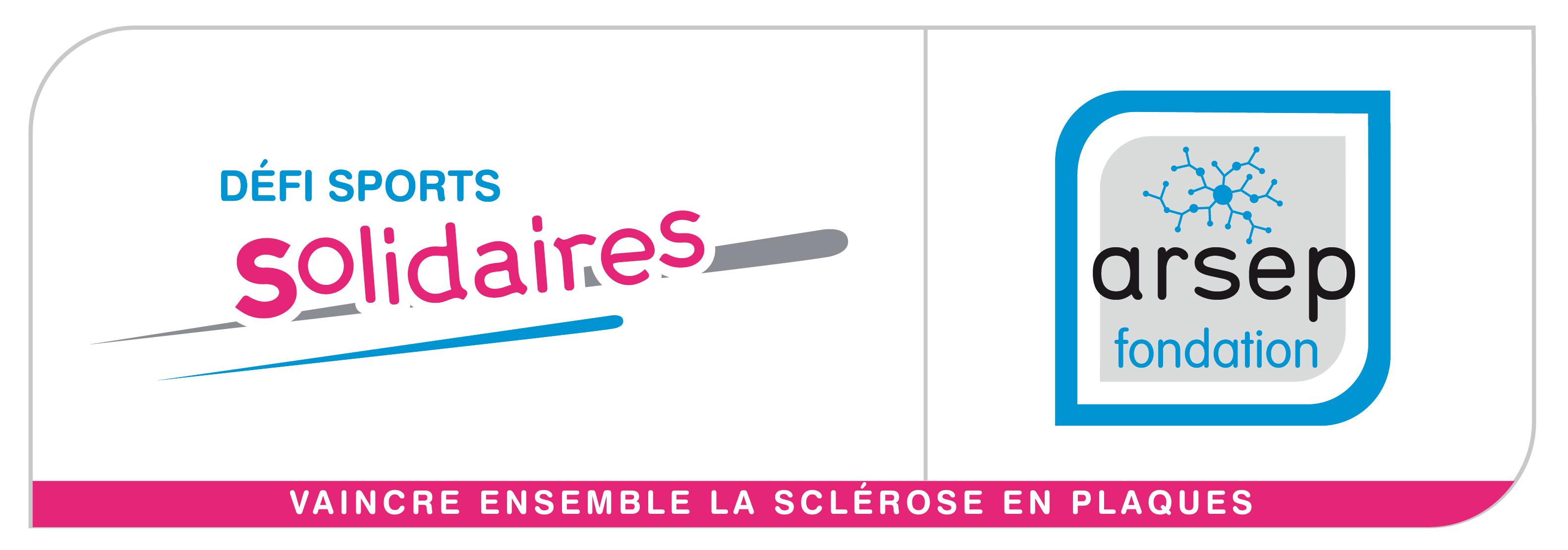 Logo ARSEP Fondation Défi sports solidaires Sclérose en plaques