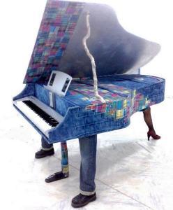 Des instruments de musique en papier
