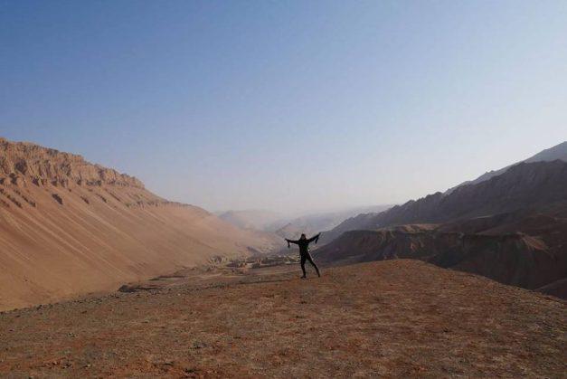 In de woestijn bij Turpan