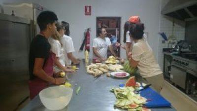 Entrevista al taller de cocina