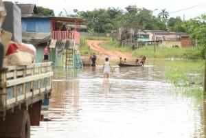 Nível do rio chegou a 16,35 metros e pode subir mais nos próximos dias, diz Defesa Civil Divulgação/ Secom Acre