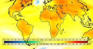 Projeção do aquecimento global até meados do século 21 – Foto: Wikimedia Commons