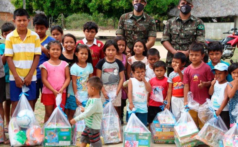Tropa da 1ª Brigada de Infantaria de Selva realiza ACISO na CI MARUWAI