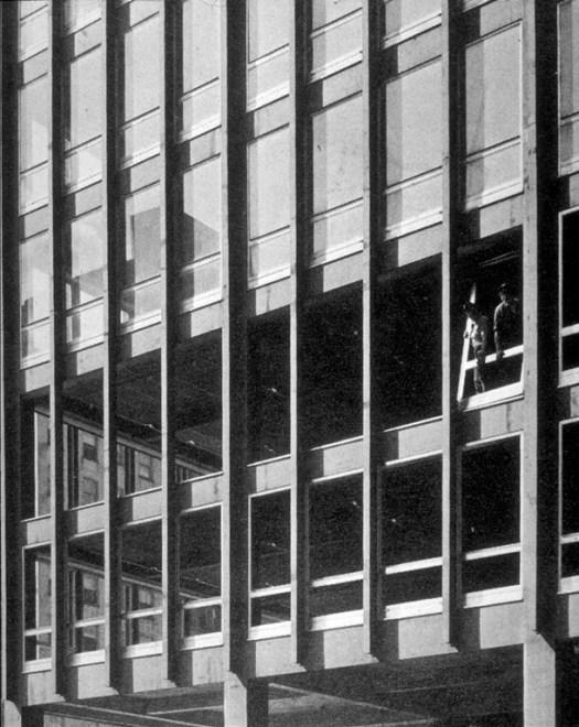 """Fachada de cortina"", 860 Lakeshore Drive, Mies Van Der Rohe, Chicago, 1958 (Webster e Yu, 2005)"