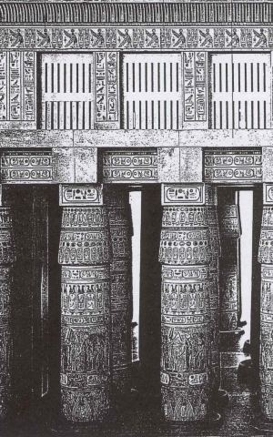 Grelhas de iluminação natural, Templo de Amon-Re em Karnak