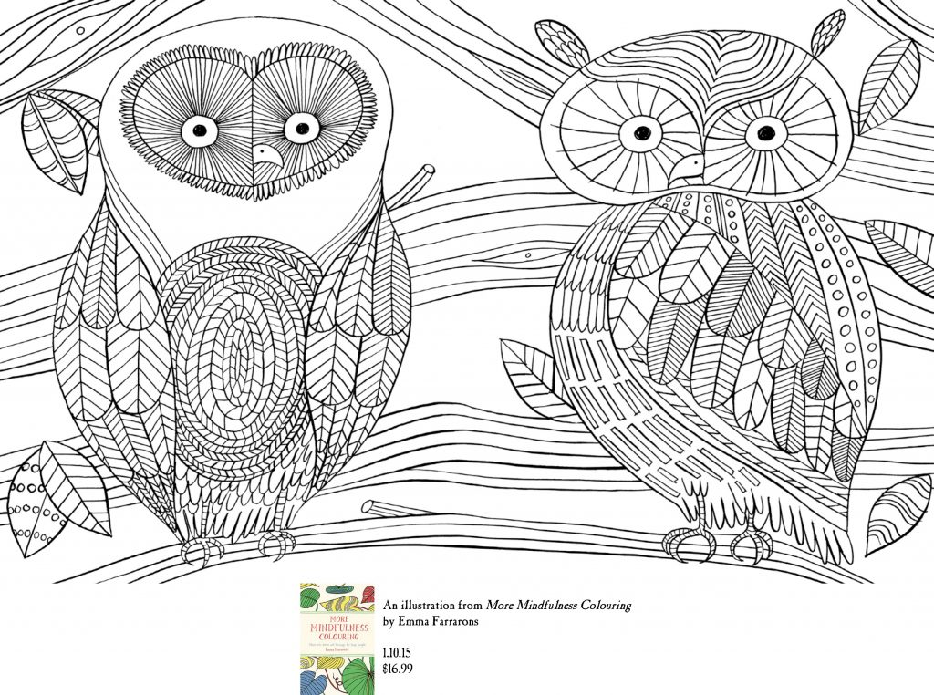 More Mindfulness Colouring - Sp 2 With Footer