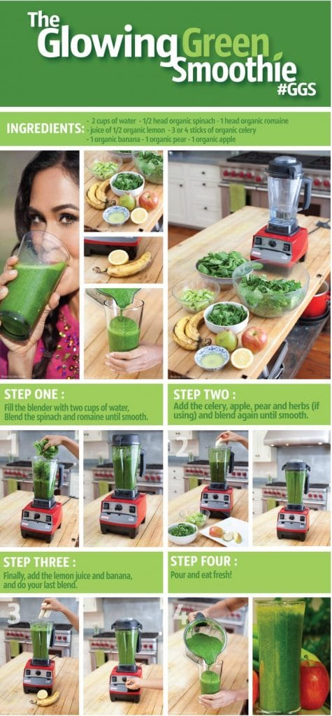 The Glowing Green Smoothie to help you look younger.