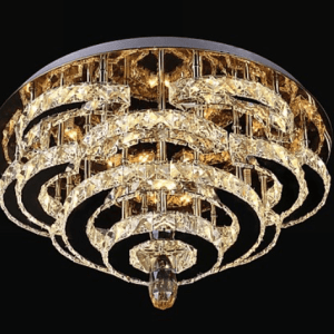 5 tier semi flush crystal light.