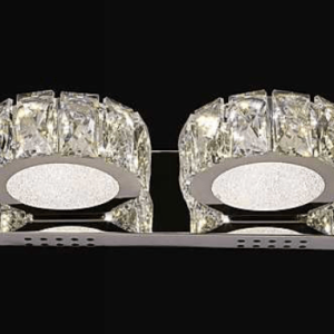 double round crystal wall light