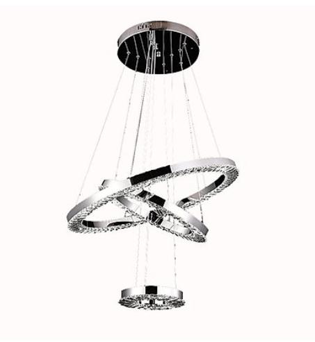 Triple Hanging Crystal Chandelier