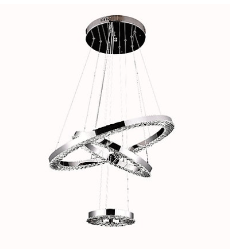 Triple Hanging Crystal Chandelier