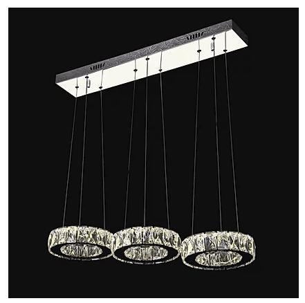 3 hanging crystal pendant light chandelier