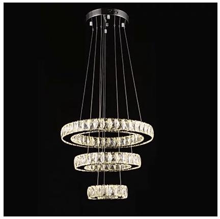 3 tier crystal chandelier light