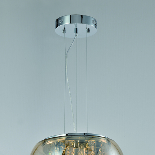 Indoor Lighting Chandeliers Amber Glass Hanging Ceiling Light – CP20