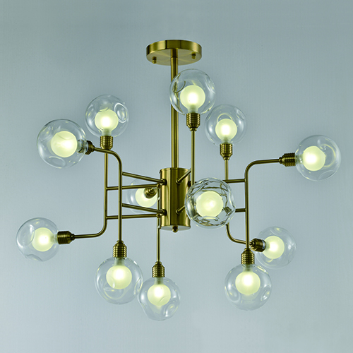 Indoor Lighting Pendants CP38 | GOLD & CLEAR GLASS