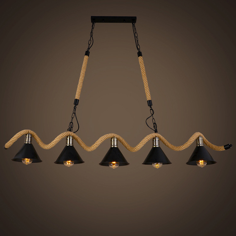 Hanging Rope Pendant Light