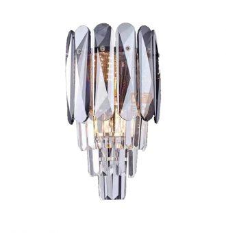 Smoke Grey crystal wall light