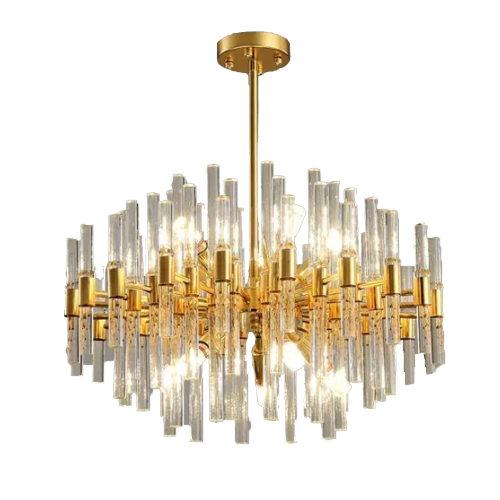 Round Gold Crystal Chandelier