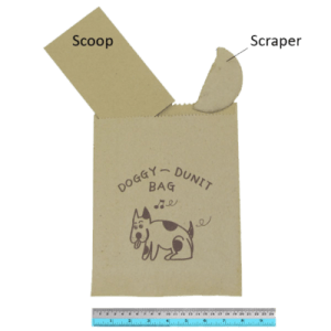 Recycled brown paper dog litter