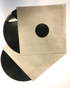 RECORD INNER SLEVE RECYCLED PAPER BROWN