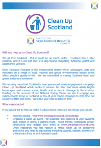 Clean Up Scotland poster