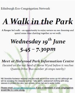 Walk in the Park Edinburgh