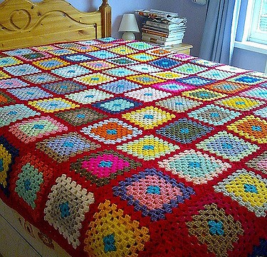 Bed with blanket