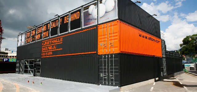 Platoon Kunsthalle GwangJu Shipping Container Art Center Stacks Up in Korea