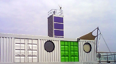 The Barking Riverside Marketing Suite Made From Shipping Containers