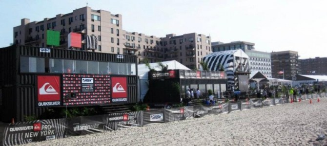 The Quiksilver Pro New York 2011 Pop Up Shipping Container Structures by RE:BE Design