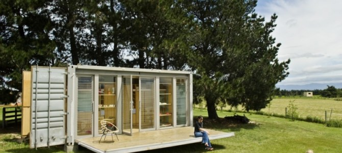 Port a Bach. A Holiday Shipping Container Home. New Plymouth, New Zealand.