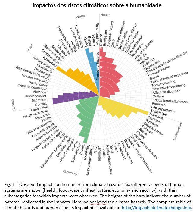 impactos dos riscos climáticos sobre a humanidade