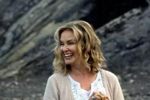 Jessica Langer tra le montagne