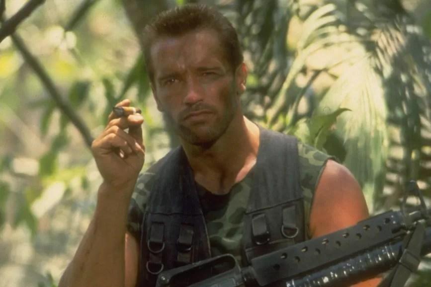 Arnold Schwarzenegger - scena film Predator