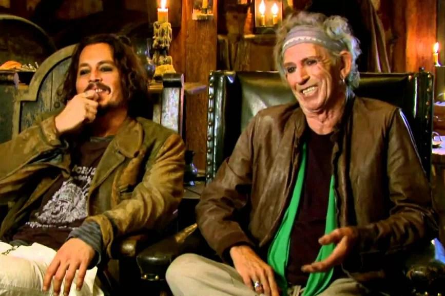Keith Richard e Johnny Depp foto