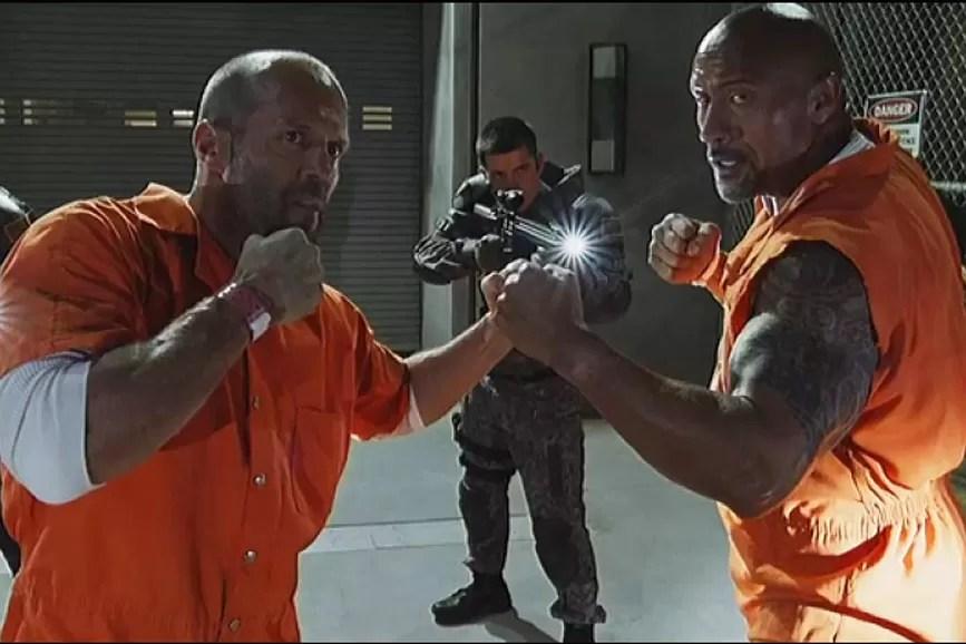 Dwayne Johnson Jason Statham Fast & Furious scena film
