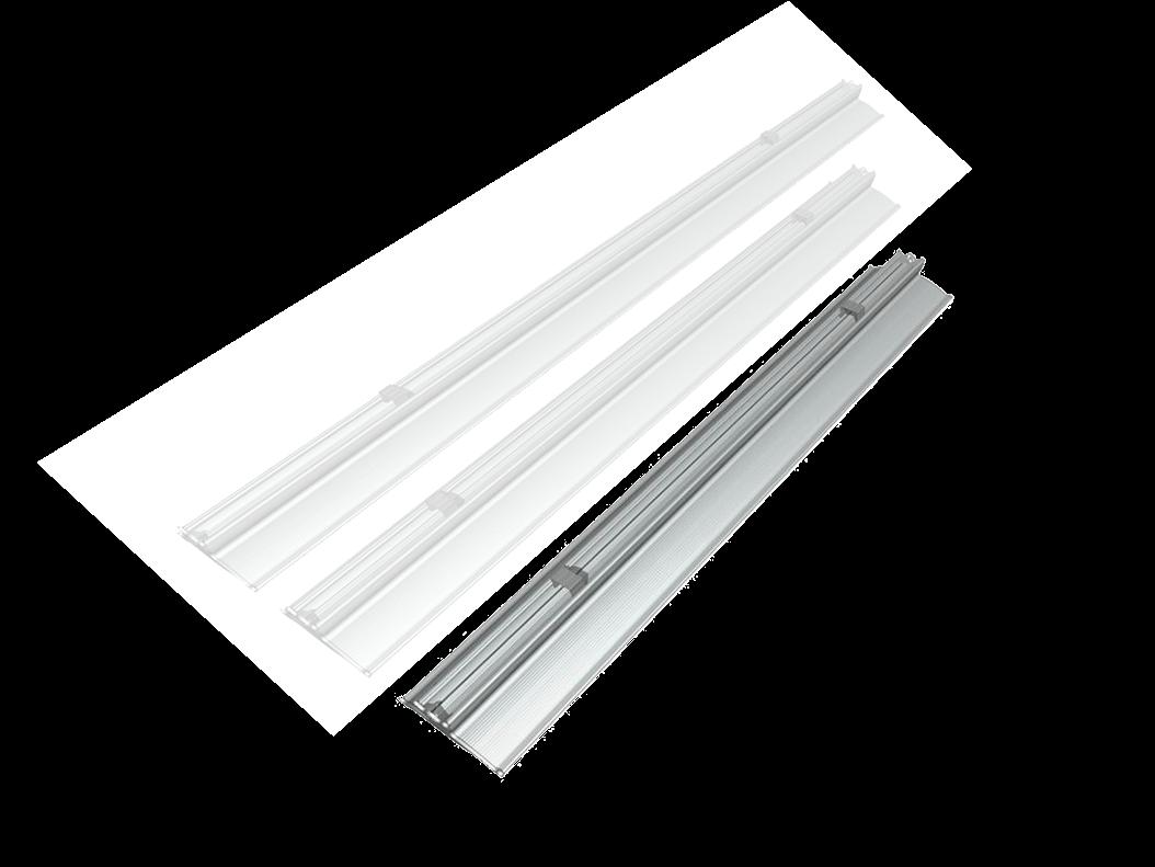 Plafoniere Led : Plafoniere a led lineari per soffitto di diverse dimensioni