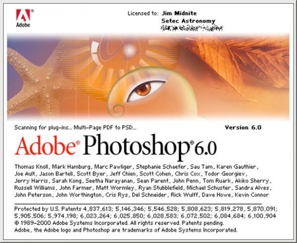 2000 - Adobe Photoshop versão 6.0